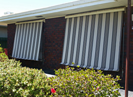 100% Blockout Patterned Canvas Awnings with Scallop