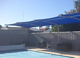 Pool side cantilevers