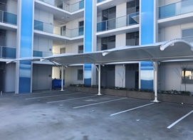 Apartment Block car park shelters Coogee Beach WA
