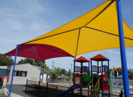 Double Span shade with dual coloured shadecloth cover